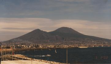 View of Mount Vesuvius in Naples