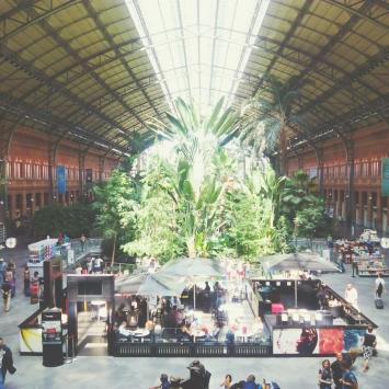 Madrid's eco train station.
