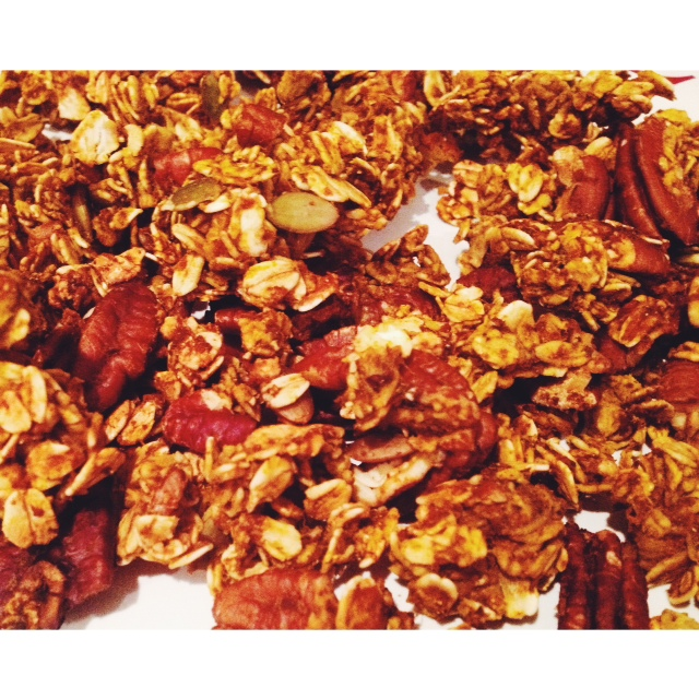 My homemade pumpkin granola!