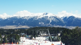 View of the Pyrenee Range from the top of Font Romeau's ski hill.