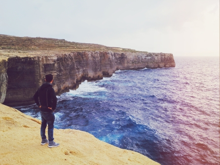Cliffs in Gozo (Malta)